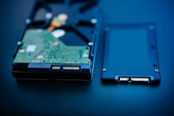 HDD's give way to the much improved performance of SSD's