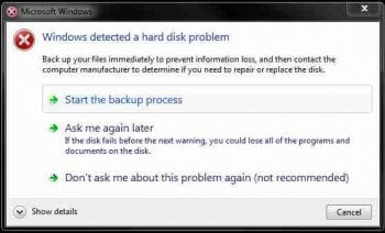 Warning Signs of Hard Drive Failure